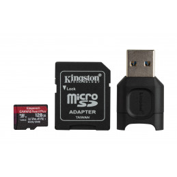 Kingston Technology Canvas React Plus flash-muisti 128 GB MicroSD UHS-II Luokka 10