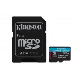 Kingston Technology Canvas Go! Plus flash-muisti 128 GB MicroSD UHS-I Luokka 10