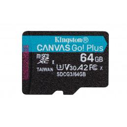 Kingston Technology Canvas Go! Plus flash-muisti 64 GB MicroSD UHS-I Luokka 10