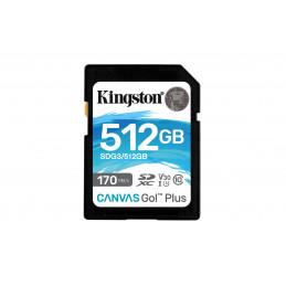 Kingston Technology Canvas Go! Plus flash-muisti 512 GB SD UHS-I Luokka 10
