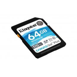 Kingston Technology Canvas Go! Plus flash-muisti 64 GB SD UHS-I Luokka 10