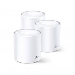 TP-LINK DECO X60 (3-PACK) langaton reititin Gigabitti Ethernet Kaksitaajuus (2,4 GHz 5 GHz) Valkoinen
