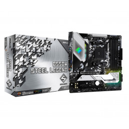 Asrock B550M Steel Legend AMD B550 Kanta AM4 mikro ATX