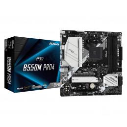 Asrock B550M Pro4 AMD B550 Kanta AM4 mikro ATX