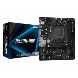 Asrock B550M-HDV AMD B550 Kanta AM4 mikro ATX