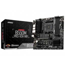 MSI B550M PRO-VDH WIFI emolevy AMD B550 Kanta AM4 mikro ATX