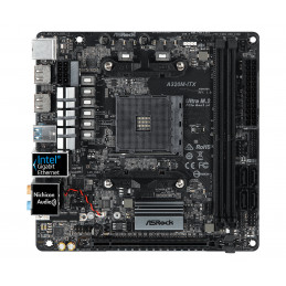 Asrock A320M-ITX AMD Promontory A320 Kanta AM4 Mini ITX
