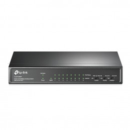 TP-LINK TL-SF1009P verkkokytkin Hallitsematon Fast Ethernet (10 100) Power over Ethernet -tuki Musta