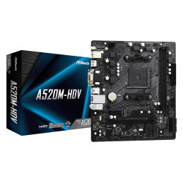 Asrock A520M-HDV Kanta AM4 mikro ATX