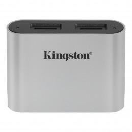 Kingston Technology Workflow microSD Reader kortinlukija USB 3.2 Gen 1 (3.1 Gen 1) Type-C Musta, Hopea