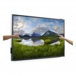 """DELL C8618QT Interaktiivinen litteä paneeli 2,17 m (85.6"""") LCD Full HD Musta, Hopea Kosketusnäyttö"""