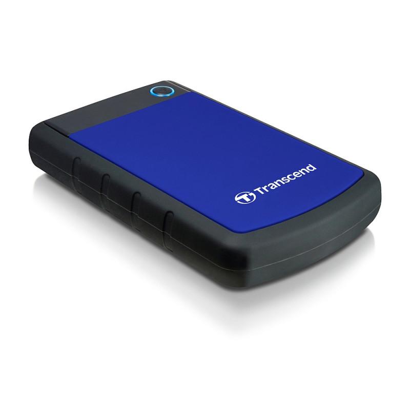 Transcend 1TB StoreJet 25H3 ulkoinen kovalevy 1000 GB Musta, Sininen