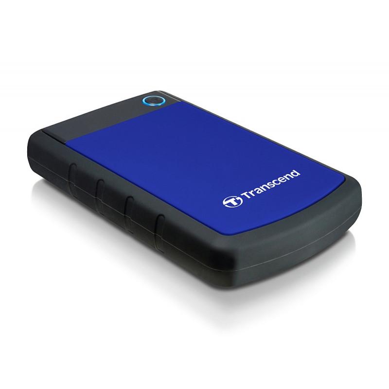 Transcend 2TB StoreJet 25H3 ulkoinen kovalevy 2000 GB Musta, Sininen