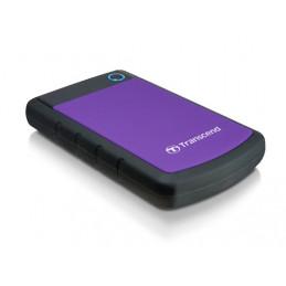 Transcend StoreJet 25H3P (USB 3.0), 2TB ulkoinen kovalevy 2000 GB Musta, Purppura