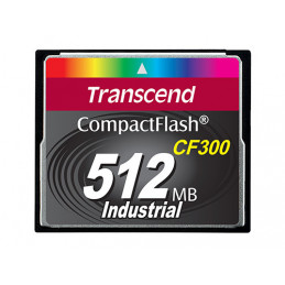 Transcend TS512MCF300 flash-muisti 0,5 GB CompactFlash SLC