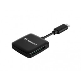 Transcend RDC3 kortinlukija USB 3.2 Gen 1 (3.1 Gen 1) Type-C Musta