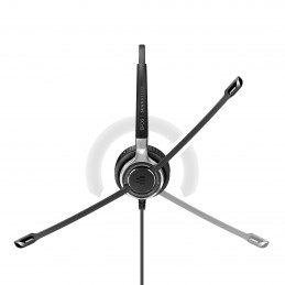 EPOS | SENNHEISER IMPACT SC 665 USB Kuulokkeet Pääpanta 3,5 mm liitin USB A-tyyppi Musta, Hopea