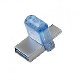 DELL AB135440 USB-muisti 32 GB USB Type-A   USB Type-C 3.2 Gen 1 (3.1 Gen 1) Sininen, Hopea