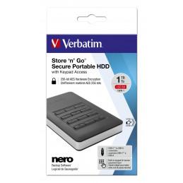 Verbatim Store'n'Go ulkoinen kovalevy 2000 GB Musta, Hopea
