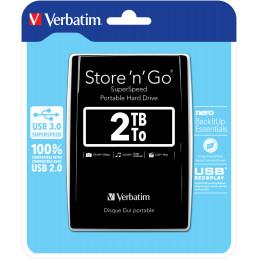 Verbatim Store 'n' Go ulkoinen kovalevy 2048 GB Musta