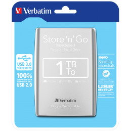 Verbatim Store 'n' Go ulkoinen kovalevy 1000 GB Hopea