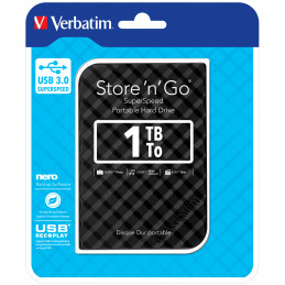 Verbatim Store 'n' Go ulkoinen kovalevy 1000 GB Musta