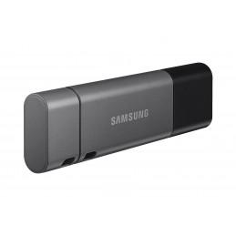 Samsung MUF-256DB USB-muisti 256 GB USB Type-A   USB Type-C 3.2 Gen 1 (3.1 Gen 1) Musta, Hopea