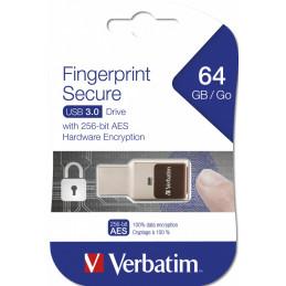 Verbatim Fingerprint Secure USB-muisti 64 GB USB A-tyyppi 3.2 Gen 1 (3.1 Gen 1) Hopea