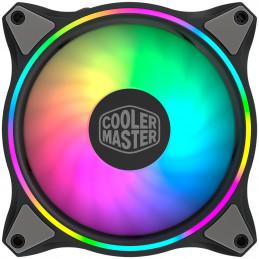 Cooler Master MasterFan MF120 Halo 3in1 Tietokonekotelo Tuuletin 12 cm Musta, Harmaa