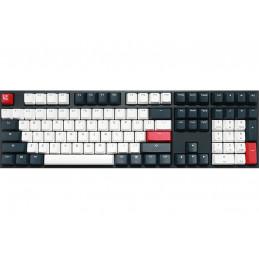 Ducky One 2 Tuxedo näppäimistö USB QWERTY englanti Musta, Punainen, Valkoinen