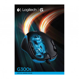 Logitech G G300s hiiri Molempikätinen USB A-tyyppi Optinen 2500 DPI