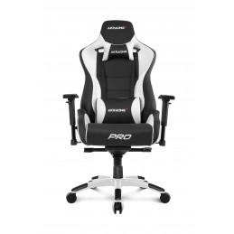 AKRacing Pro PC-pelituoli Pehmustettu istuintoppaus Musta, Valkoinen