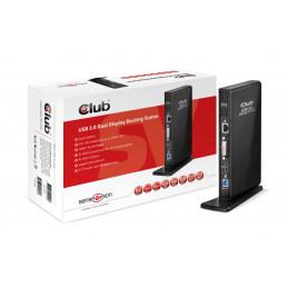 CLUB3D SenseVision USB3.0 Dual Display Docking Station