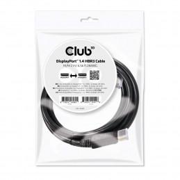 CLUB3D DisplayPort 1.4 HBR3 Cable 2m 6.56ft M M 8K60Hz