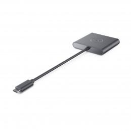 DELL DBQAUANBC070 keskitin USB 3.2 Gen 1 (3.1 Gen 1) Type-C Musta