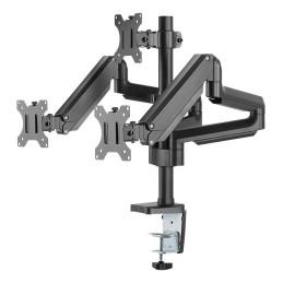 """Deltaco ARM-0352 monitorin kiinnike ja jalusta 68,6 cm (27"""") Puristin Musta"""