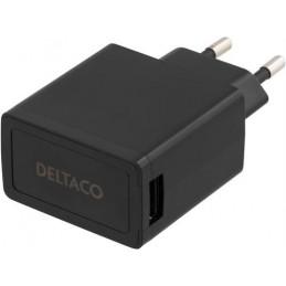 Deltaco USB-AC77 mobiililaitteen laturi Musta Sisätila