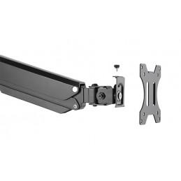 """Deltaco ARM-0350 monitorin kiinnike ja jalusta 81,3 cm (32"""") Puristin Läpipultattu Musta"""