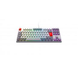Xtrfy K4 TKL RGB näppäimistö USB Pohjoismainen Harmaa, Punainen, Valkoinen