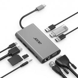 Acer HP.DSCAB.002 keskitin USB 3.2 Gen 1 (3.1 Gen 1) Type-C 5000 Mbit s Hopea