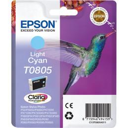 Epson Hummingbird Yksittäispakkaus, vaalea syaani T0805 Claria Photographic -muste