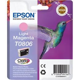 Epson Hummingbird Yksittäispakkaus, vaalea magenta T0806 Claria Photographic -muste