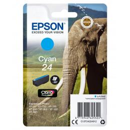 Epson Elephant Yksittäispakkaus, syaani 24 Claria Photo HD -muste