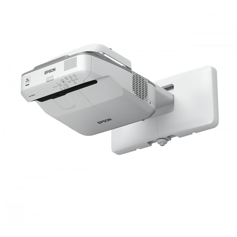 Epson EB-685W dataprojektori Seinäkiinnitetty projektori 3500 ANSI lumenia 3LCD WXGA (1280x800) Harmaa, Valkoinen