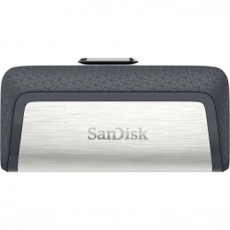 SanDisk Ultra Dual Drive USB Type-C USB-muisti 64 GB USB Type-A   USB Type-C 3.2 Gen 1 (3.1 Gen 1) Musta, Hopea