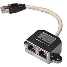 Deltaco 679-F cable gender changer RJ45 2x RJ45 Musta, Metallinen, Valkoinen