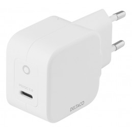 Deltaco USBC-GAN01 mobiililaitteen laturi Valkoinen Sisätila