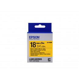 Epson tarrakasetti vahva liima - LK-5YBW vahva liima musta kelt. 18 9