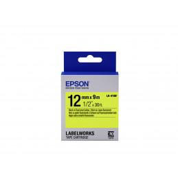 Epson tarrakasetti huomioväri - LK-4YBF huomioväri musta kelt. 12 9