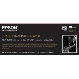 """Epson Traditional Photo Paper, 17"""" x 15 m"""